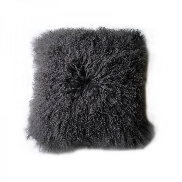 housse coussin agneau du tibet gris. Black Bedroom Furniture Sets. Home Design Ideas