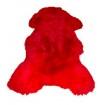 Peau de mouton rouge vif