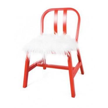 Galette de chaise en peau de mouton blanc - Galette de chaise blanc ...