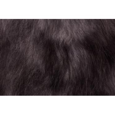Peau de mouton islandais gris méché
