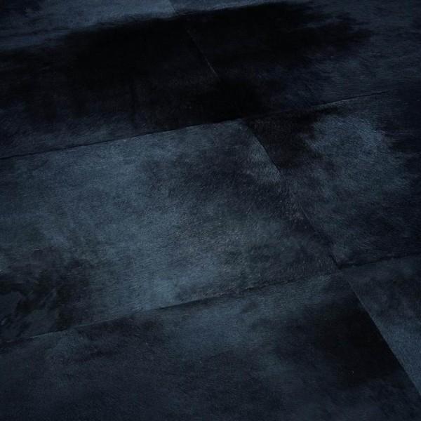 Tapis Peau de Vache Patchwork Noir