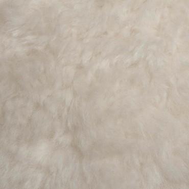 Pouf en Peau de mouton blanc