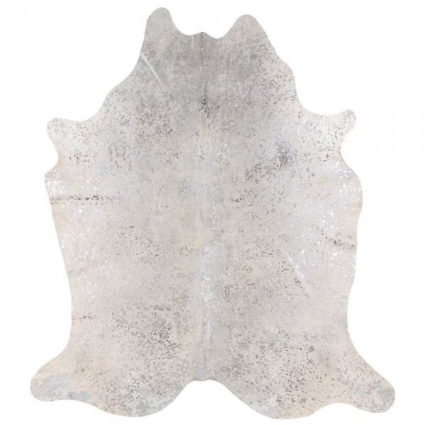 Peau de Vache Dévorée Pailletée Argent