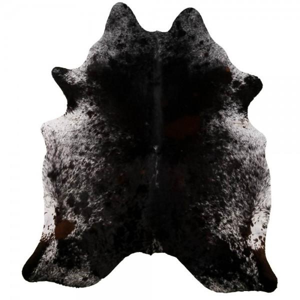 Peau de Vache Poivre et Sel Noire