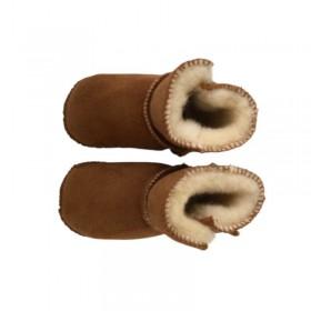 Chaussons bébés en peau de mouton
