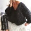 Pull en laine mohair noir