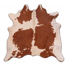 Peau de vache marron et blanc