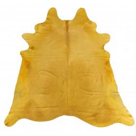 Peau de vache jaune orangée