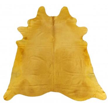 Peau de Vache Teintée jaune orangée
