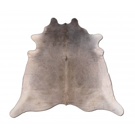Peau de Vache Unicolore Gris