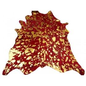 Peau de Vache rouge dévorée dorée