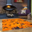 Tapis de Vache Patchwork Orange