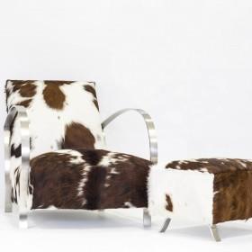 """Fauteuil en Peau de vache """"Chamonix"""""""