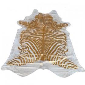 Peau de vache zébrée dorée