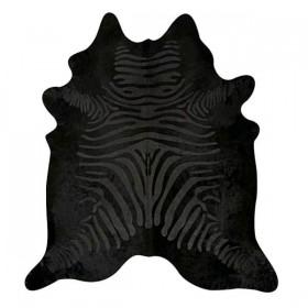 Peau de vache dévorée zébrée noire