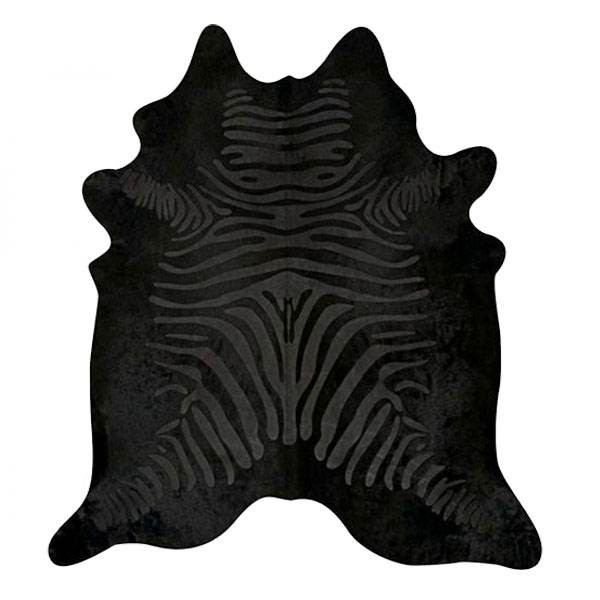 Peau de Vache zébrée noir