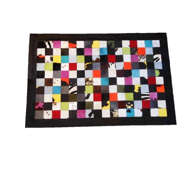 Tapis Patchwork multicolore foncé