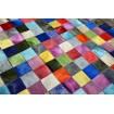 Tapis Patchwork multicolore uni