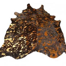 Peau de Vache noire dévorée dorée