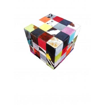 Pouf patchwork multicolore