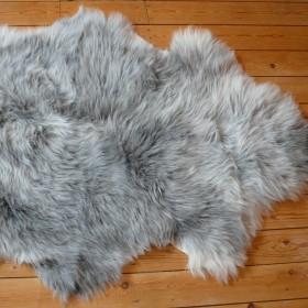 Peau de mouton gris naturel