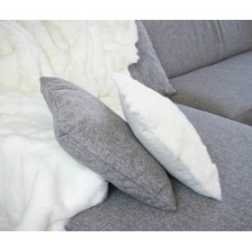 Housse coussin Lapin Blanc recto seul