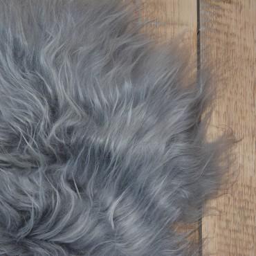 Peau de mouton islandais teintée gris