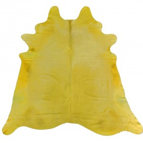 Peau de vache jaune citron