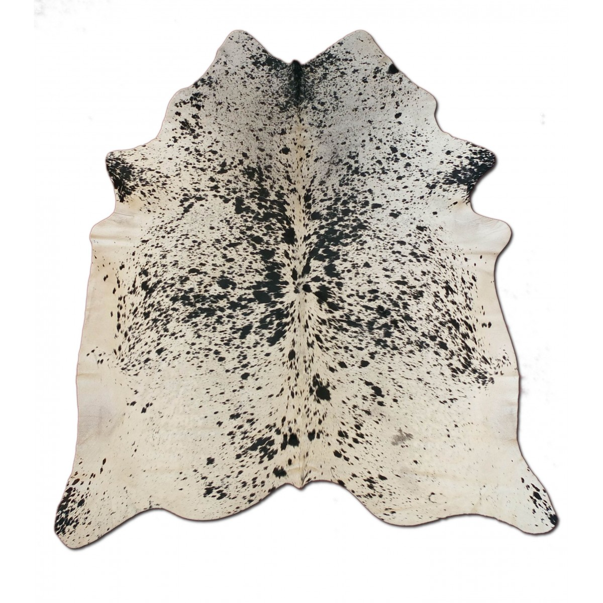 peau de vache poivre et sel noir taille petite 160 x 180 cm. Black Bedroom Furniture Sets. Home Design Ideas