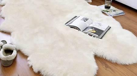 Tapis peau de mouton sur mesure